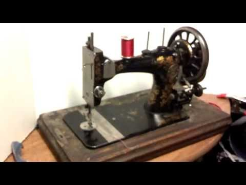 Serviced Rare Antique Clemens Muller Dresden Hand Crank Treadle Floral Sewing Machine 870769