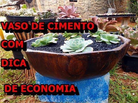 VASO DE CIMENTO COM DICAS DE MOLDES MAIS BARATOS