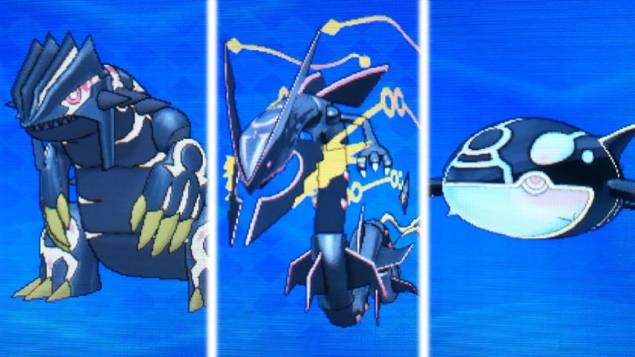 Primal Kyogre Wallpaper shiny primal groudon,kyogre,and mega rayquaza unite! (pokemon