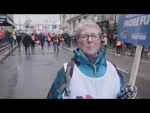 Close the Gap: Senior Staff Nurse at NHS in Crisis, Fix it Now March and Demonstration