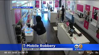 Couple Steals Phones At Garden Grove T-Mobile Store