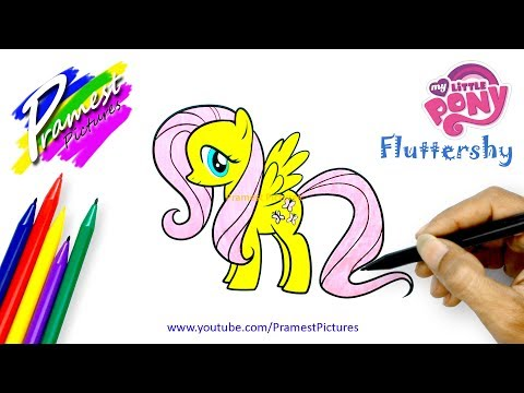 Fluttershy Cara Menggambar Dan Mewarnai Gambar Kuda Poni Untuk