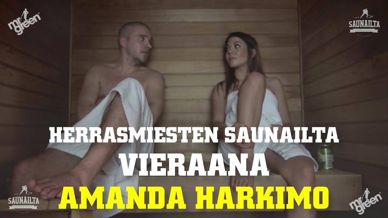 Amanda Harkimo herrasmiesten saunailta - vieraana kuvankaunis amanda harkimo   jakso 2