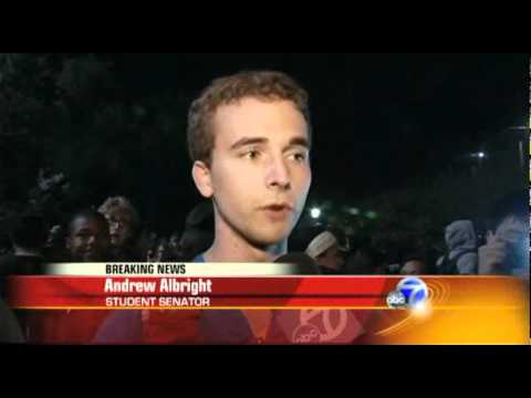 Police Violently Clashed with 1000's of Peaceful Students at Occupy UC Berkeley - Abc 7 reports