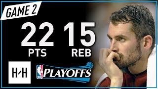 Kevin Love Full Game 2 Highlights Cavaliers vs Celtics 2018 NBA Playoffs ECF - 22 Pts, 15 Reb!