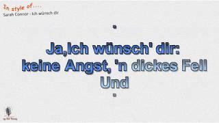 Sarah Connor - Ich wünsch dir - Instrumental und Karaoke  by rolf rattay