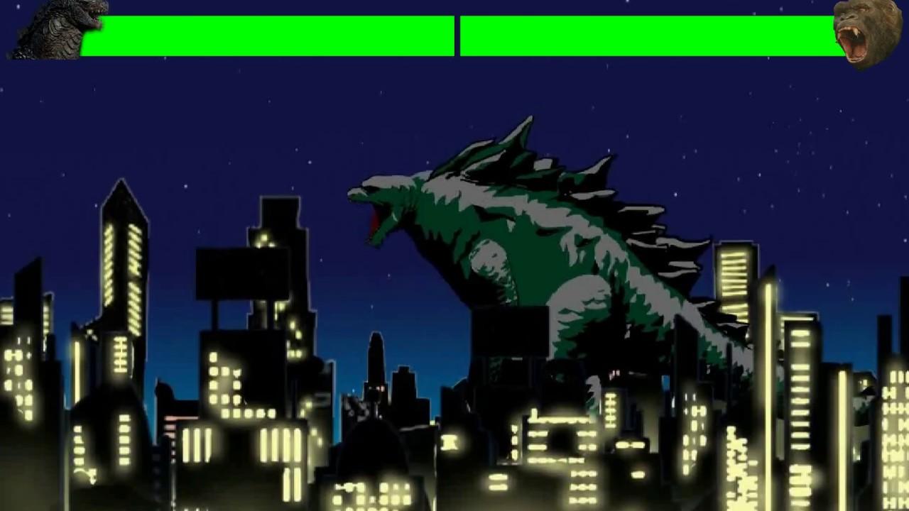 Godzilla vs King Kong animated part 1 with healthbars