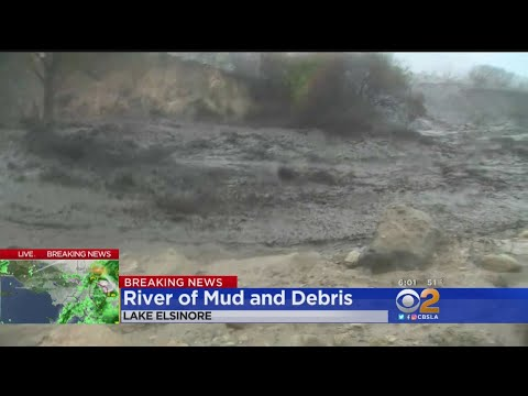 Heavy Rain Forces Evacuations In Lake Elsinore - YouTube