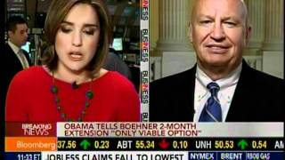 Rep. Kevin Brady on Bloomberg TV Payroll Tax Extension