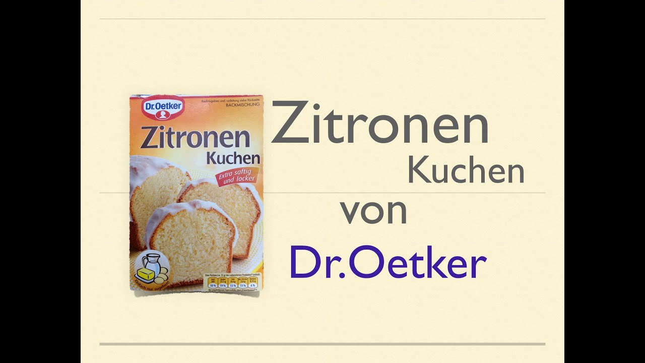 zitronen kuchen von dr oetker backmischung youtube. Black Bedroom Furniture Sets. Home Design Ideas