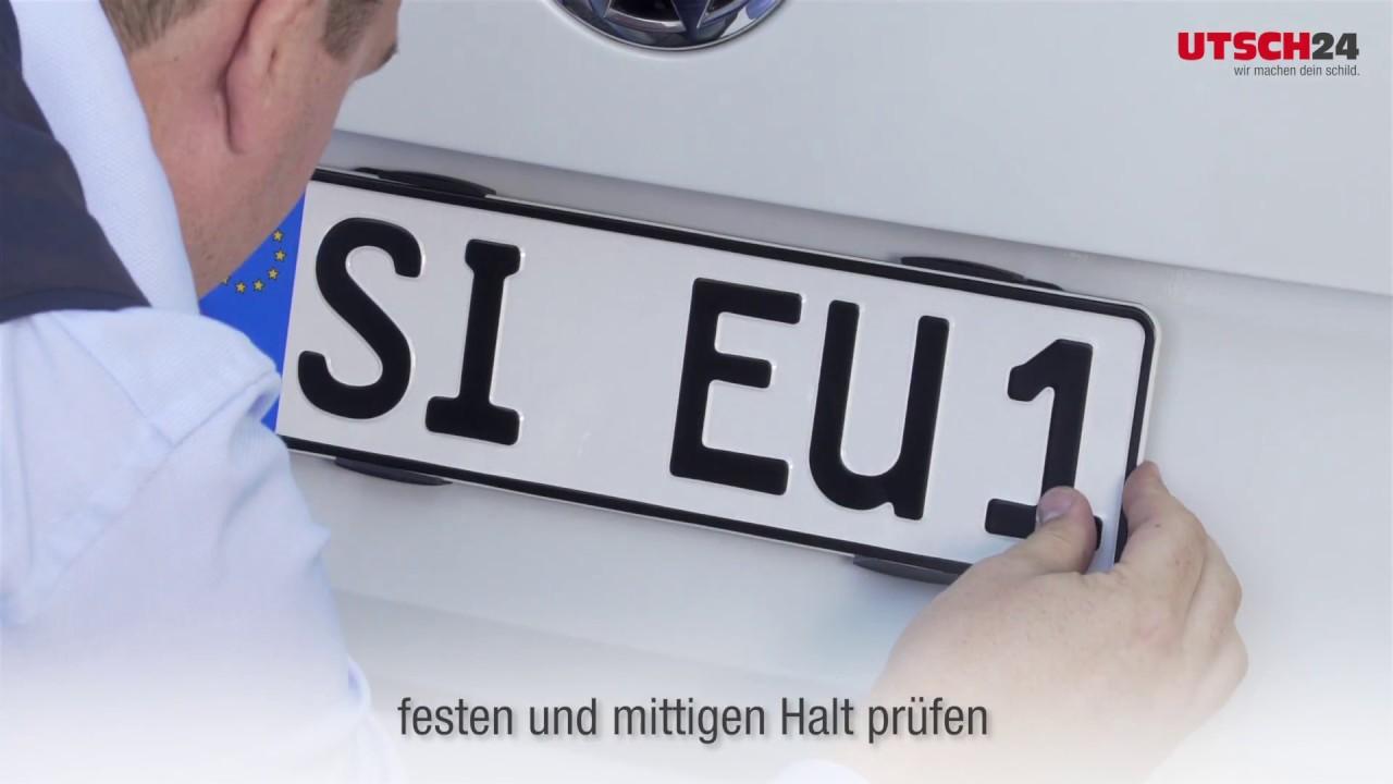 Montage Kennzeichenhalter Simple Fix - UTSCH24 - YouTube