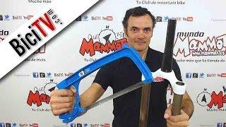 Cómo medir y cortar un tubo de horquilla de bicicleta