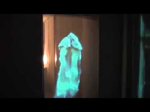 Awesome Holographic Effect In Doorway For Halloween