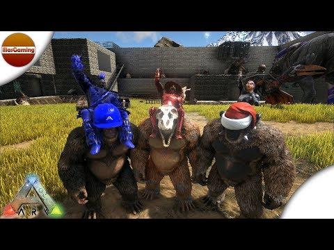 Οι τρεις Γίγαντοπίθηκοι σπέρνουν πανικό! ARK: Survival Evolved E77 (Greek gameplay)