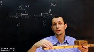 Фізика 7 клас. Вправа № 21 1-4 п.