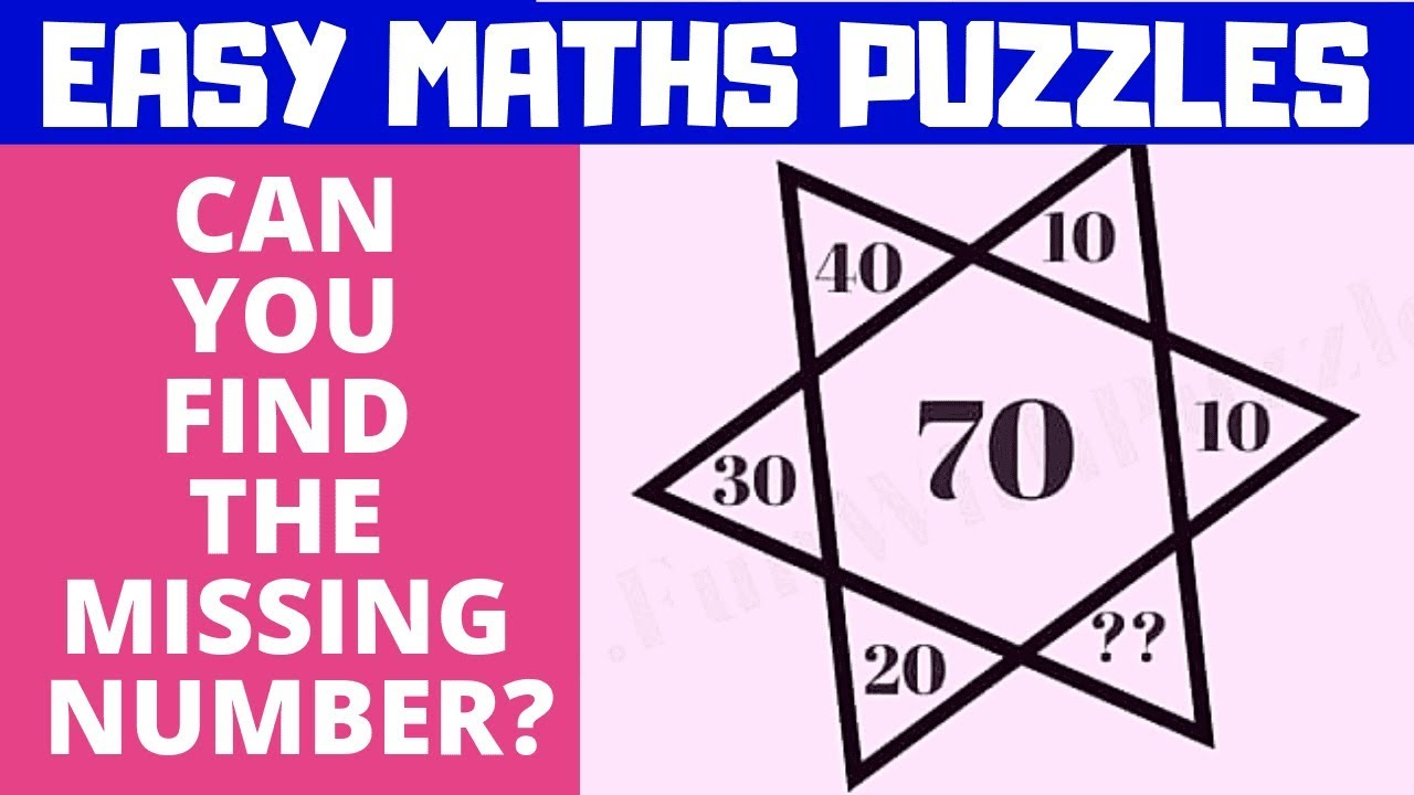Easy Maths Puzzles With Answers Youtube