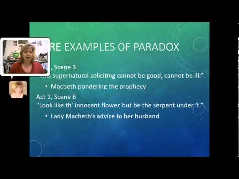Paradox In Literature And Act 1 Of Macbeth Youtube