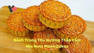 Cách Làm Nhân Bánh Trung Thu Thập Cẩm và Cách Nướng Bánh - How to make Mix Nuts Moon Cakes