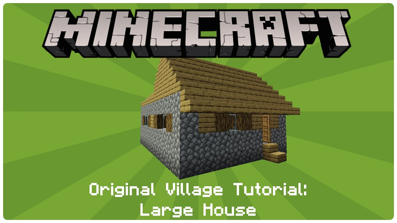 how to build an npc village large house youtube