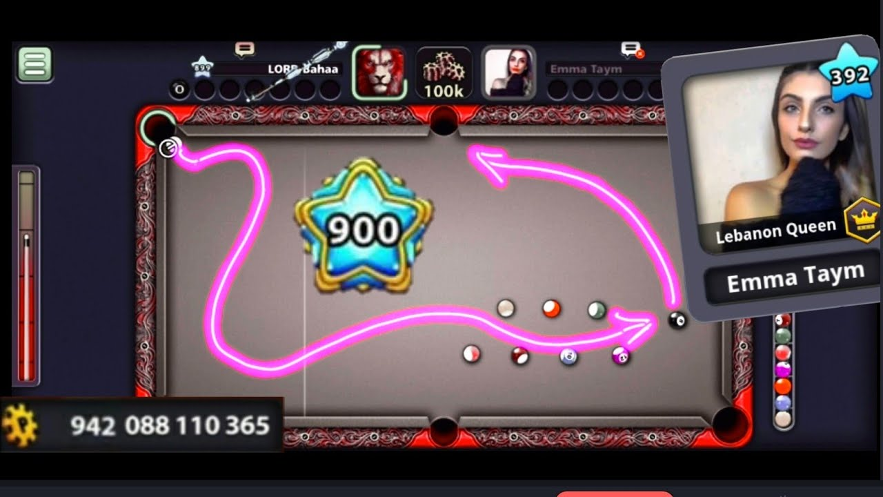 8 ball pool | 900 Level + 900 Billion Coins Special ft. Emma Taym ~ Madness Kiss Shots Highlights