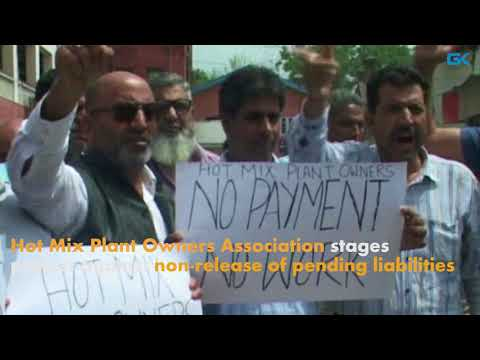 Hot Mix Plant Owners Association stages protest against non-release of pending liabilities