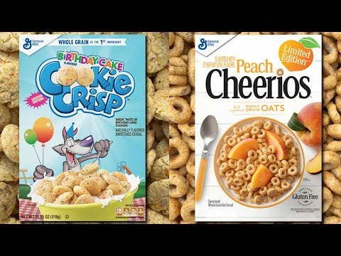 Peach Cheerios (2018) & Birthday Cake Cookie Crisp (2018)