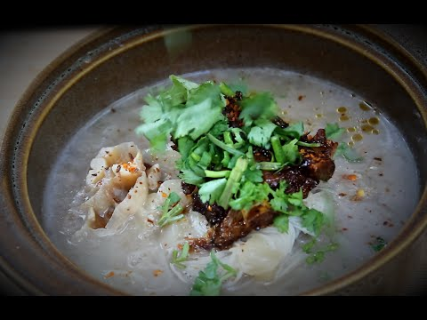 Pork Ribs with noodles in fragrant Asian broth