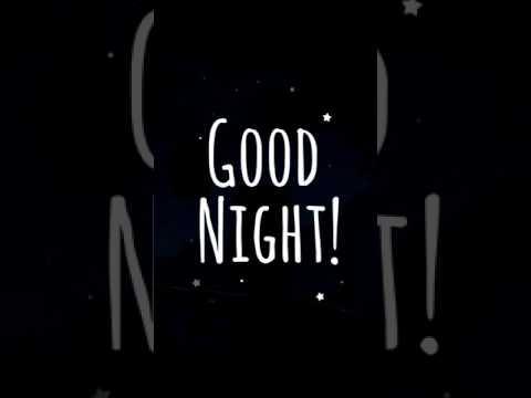 ucapan selamat malam.