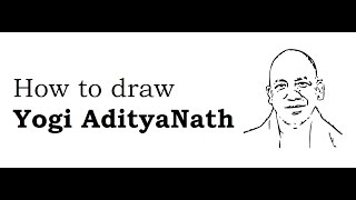 How to draw Yogi AdityaNath face sketch drawing step by step