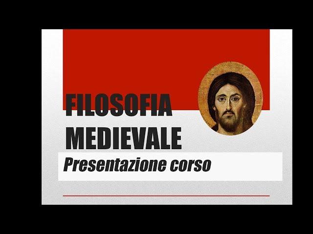 Presentazione corso filosofia medievale, consigli di studio, didattica e problemi degli insegnanti