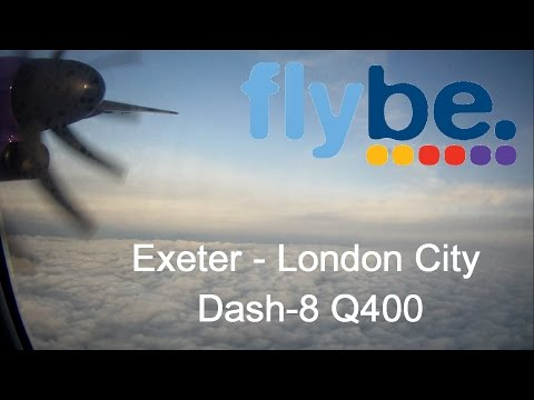 Flybe Dash-8 flight | Exeter - London City | Quick take off!