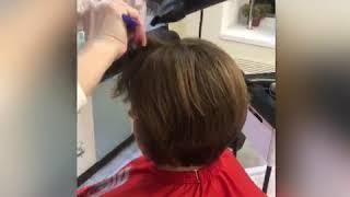 Процесс женская стрижка на короткие волосы Виктория Феденко салон красоты La Familia Бровары