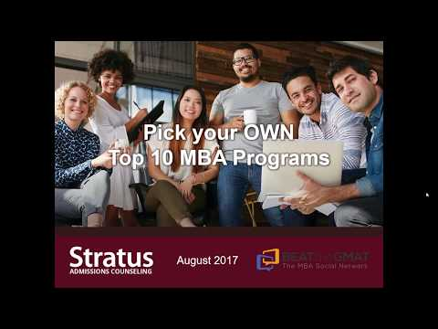Pick Your OWN Top 10 MBA Programs - Webinar