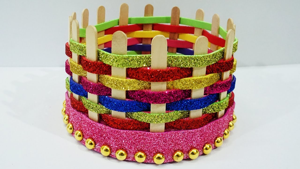 Very Easy Best Out Of Waste Popsicle Sticks Craft Idea Diy