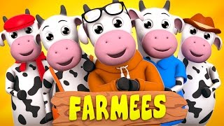 Five Little Cows | Nursery Rhymes | Rhyme For Children | Baby Songs by Farmees