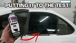 Window Tint in a CAN?!? *Spray Painting Car Windows*