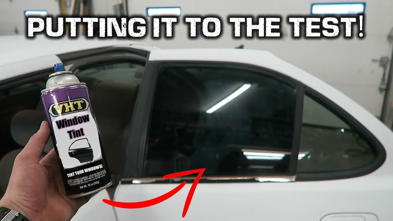 Window Tint In A Can Spray Painting Car Windows Youtube