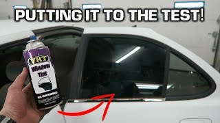 Window Tint in a CAN?!? *Spray Paiฑting Car Windows*