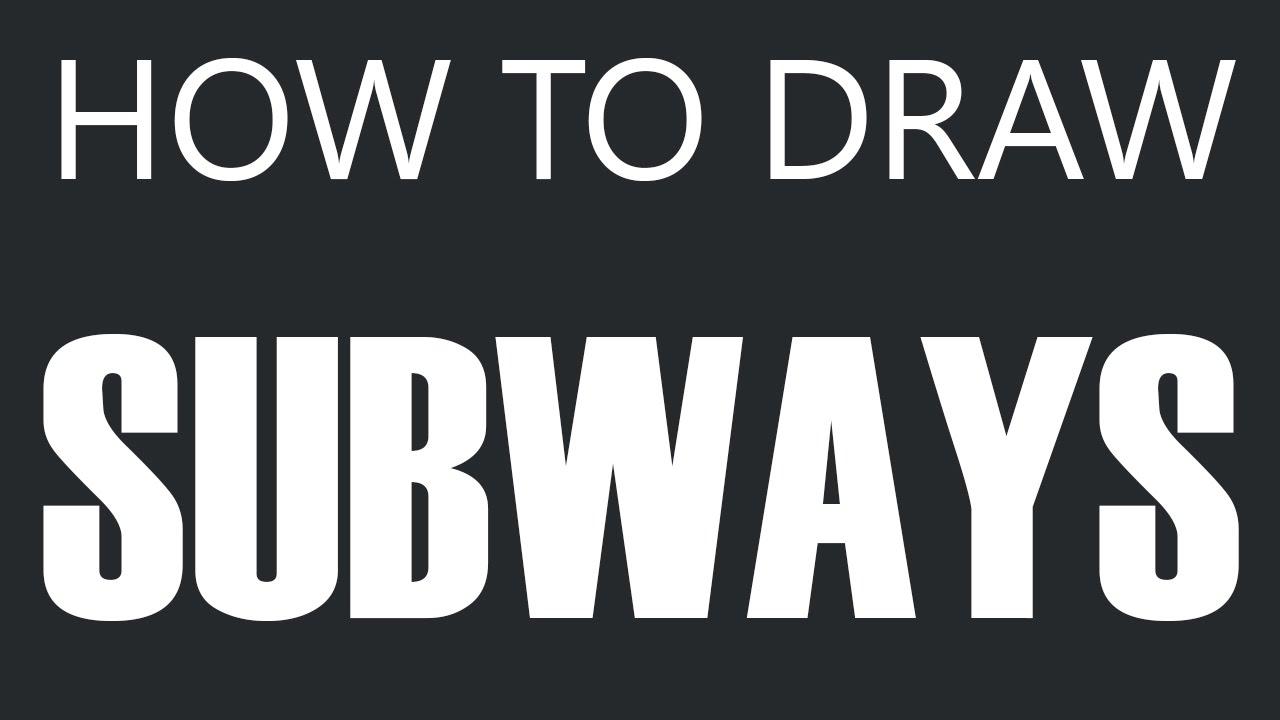 how to draw a subway train subway drawing subways youtube