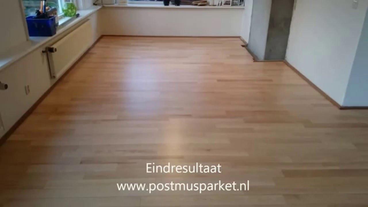 Houten vloer schuren youtube