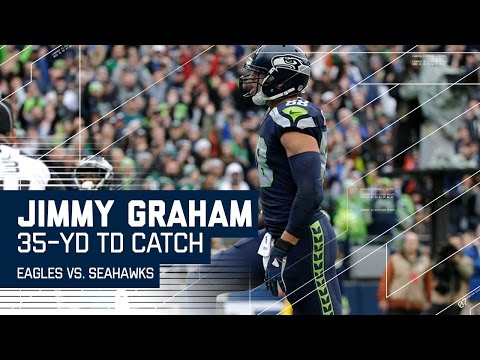 Russell Wilson Improvises & Hits Jimmy Graham for the TD! | Eagles vs. Seahawks | NFL
