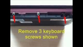 HP Mini 110 netbook keyboard and hard disk drive removal / upgrade procedure video