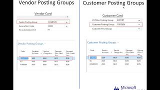 Dynamics NAV: Posting Groups
