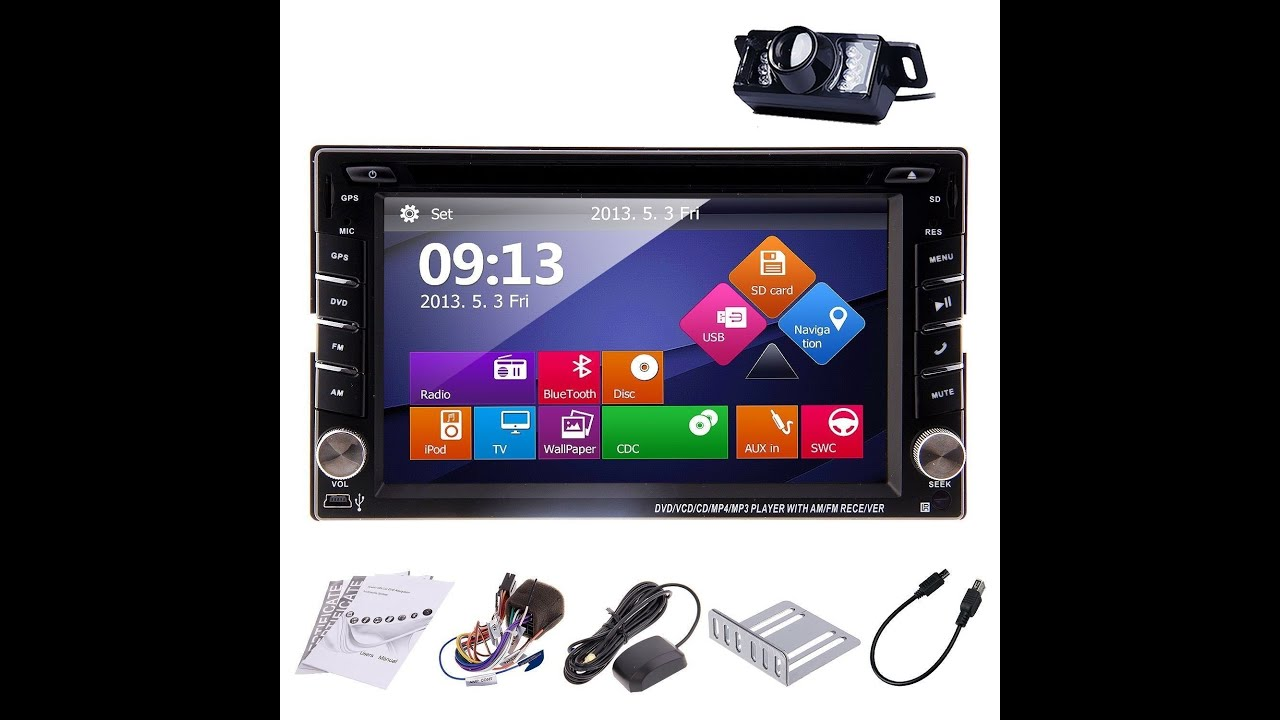ouku in dash din car dvd player with touch screen lcd monitor 6 2 inch