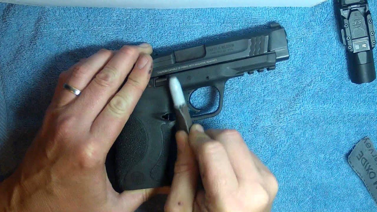 Undercutting an M&P Trigger Guard (Gunsmithing) - YouTube
