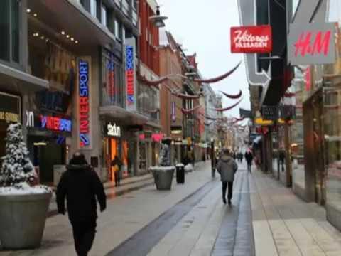 Drottninggatan, shopping street, Stockholm, Sweden,