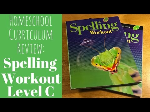 Homeschool Curriculum Review: Spelling Workout Level C