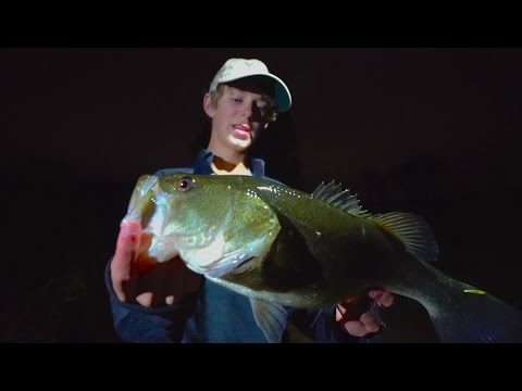 They locked us in night time bass fishing youtube for Best time for bass fishing