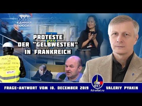 Warum gibt es weiterhin die Proteste der 'Gelbwesten' in Frankreich (Valeriy Pyakin 10.12.2018)