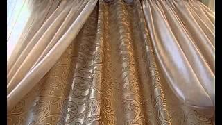 Создание панарамного вида при помощи штор в спальне